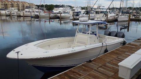 2010 Triton 351 CC Over View Dockside