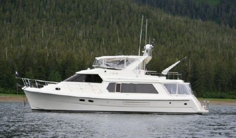 2003 Hampton 550 Pilothouse Profile view
