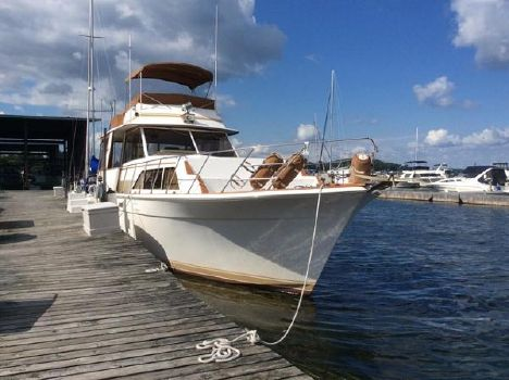 1983 Egg Harbor Flush Deck Motor Yacht Profile