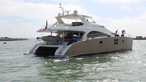 2011 Sunreef 70 Power Catamaran Starboard stern view