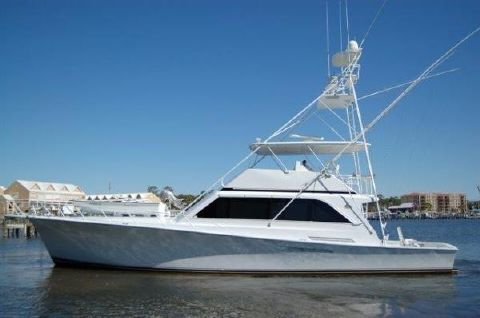1988 Ocean Yachts 63 Sport Fish Profile Shot