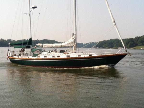 1980 Mariner 47 47' Mariner starboard profile