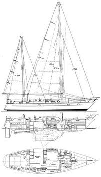1981 Pearson UNIQUE HYBRID ELECTRIC 530 1981 Pearson 530 Edwards Yacht Sales Bill Shaw Design