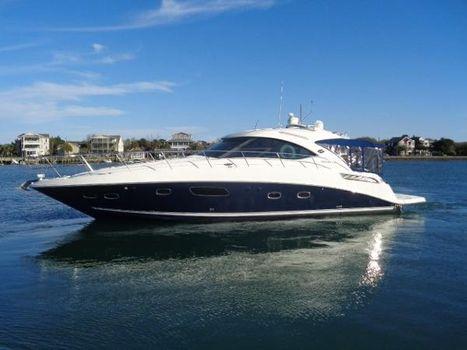 2011 Sea Ray 47 Sundancer Sirenuse exterior profile away from her dock