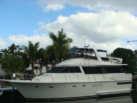 1988 Viking Motor Yacht 55' Viking port forward profile