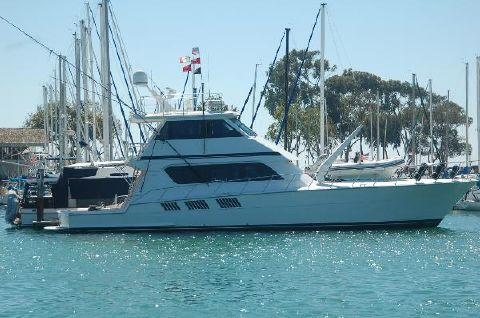 1998 Hatteras Sportfish Enclosed Bridge Starboard Profile