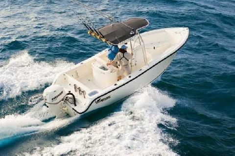 2008 Mako 234 CC Manufacturer Provided Image: The 234 Center Console handles seas that keep lesser boats at the dock.