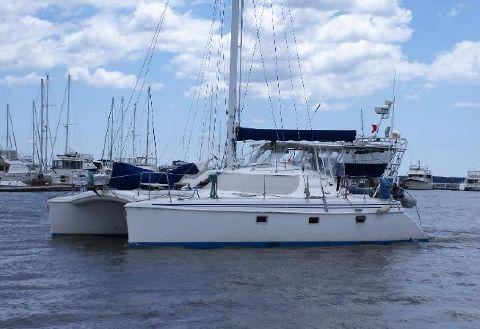 1998 Manta 40 Sail Catamaran port profile