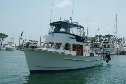 1985 Monk Trawler Aft Cabin Port  Bow