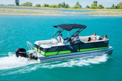 2017 Crest Pontoon Boats Caliber 230 SLR2 Tri-Toon