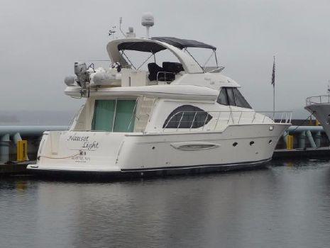 2003 Meridian 540 Raised Pilothouse Dock Stern Profile