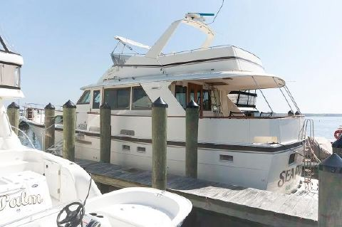 1984 Hatteras 53 Motoryacht Port Side