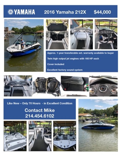 Check out this 2016 Yamaha Boats 212 X on Boattrader com