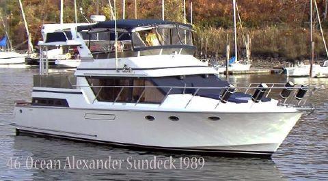 1989 Ocean Alexander 460 Sun Deck