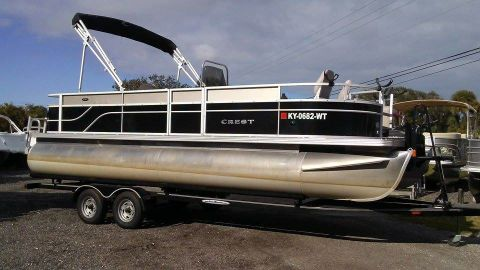 2013 Crest Pontoon Boats Wave Fish