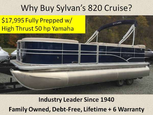 2016 Sylvan 820 Cruise