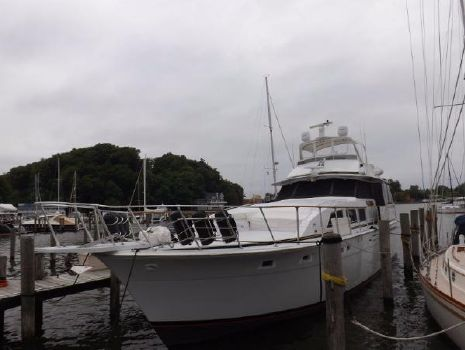 1977 Bertram 58 Flybridge Motor Yacht Overview of port side
