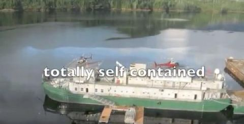 1954 Barge US Navy 100 person self contained barge