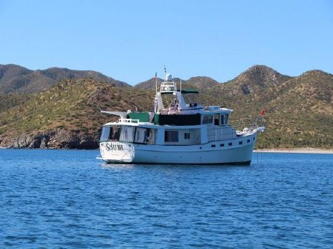 2009 Krogen 48' North Sea Widebody At anchor in Mexico