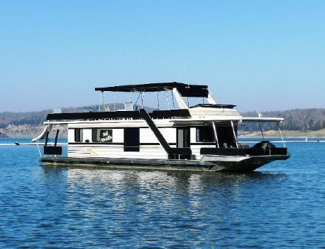 1993 Stardust 14'x65' Houseboat Starboard side profile