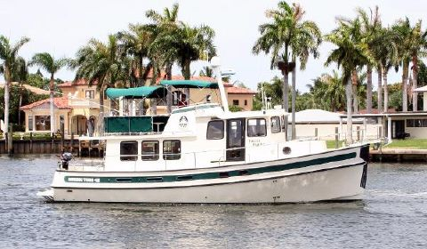 2002 Nordic Tugs 42 Flybridge Trawler Port Profile