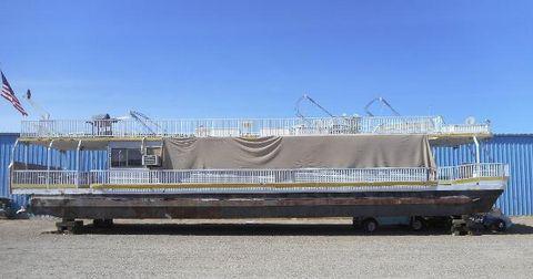1987 Hansen 75 x 16 Pontoon Houseboat