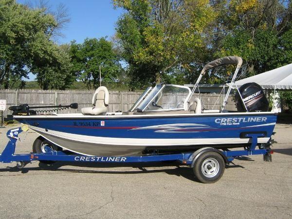 Used 2013 crestliner 1750 fish hawk delavan wi 53115 for Crestliner fish hawk