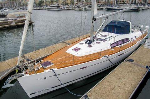 2012 Beneteau Oceanis 50 At the dock.