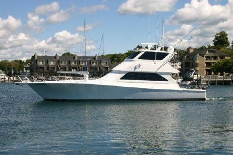 2002 Viking 61 Enclosed Bridge