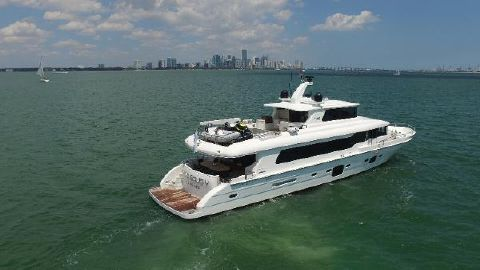 2014 Tarrab Tri-Deck Motor Yacht Starboard Aft Profile