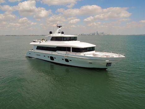 2014 Tarrab Tri-Deck Motor Yacht Starboard Bow Profile