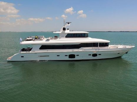 2014 Tarrab 96 Tri-Deck Motor Yacht Starboard Side Profile