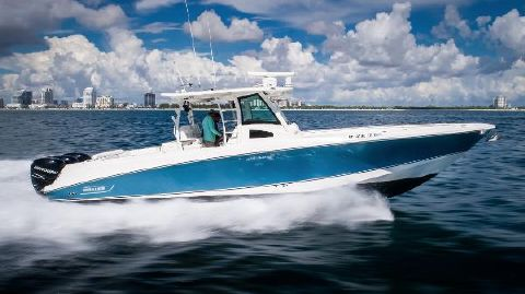 2012 Boston Whaler 370 Outrage Starboard Profile Running