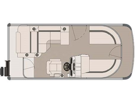 2017 Tahoe 16 ft. Sport Cruise Rear Bench