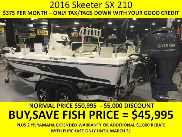 2016 Skeeter SX-210