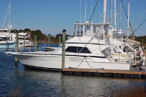 1990 Bertram 43 Convertible 43 Bertram, port side