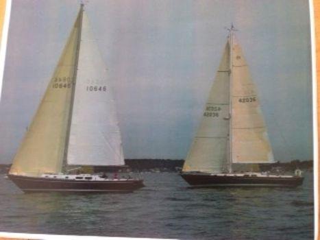 1972 Morgan 42 Sloop Under Sail with Another Morgan