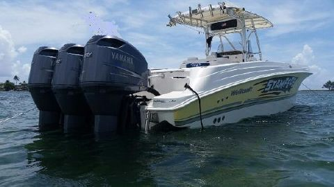 2004 Wellcraft Scarab 35 Open trip Yam 250's  Starboard from aft - Wellcraft Scarab 35