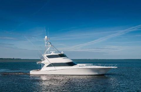 2005 Viking 74 Enclosed Bridge Starboard Profile
