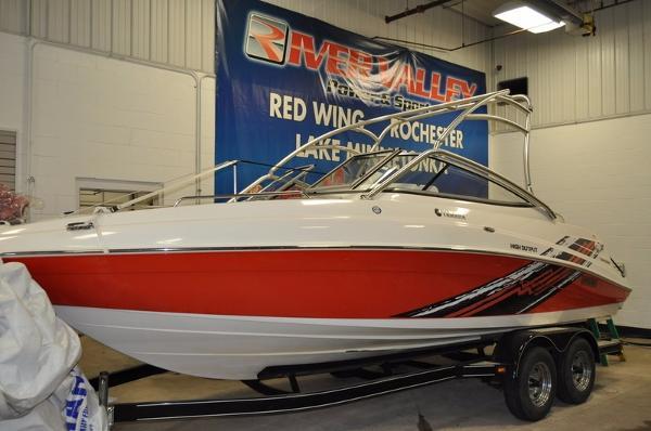 2008 yamaha ar230 ho 23 foot 2008 yamaha ar boat in red for Yamaha ar230 boat cover
