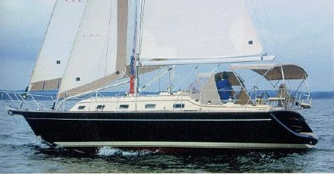 2004 Island Packet 370 Actual Boat in Sailing Magazine Boat Test