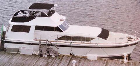 1972 Chris-Craft 55 Commander Flushdeck Motoryacht At The Dock