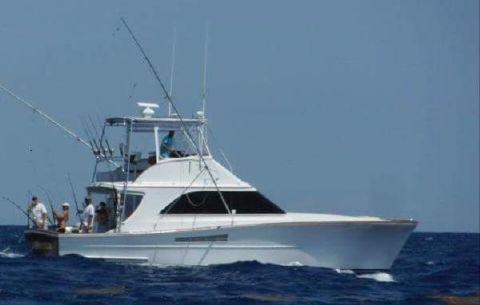 1987 Ocean Yachts 44 Highly Custom, Cummins power 44' Custom Ocean, stbd side