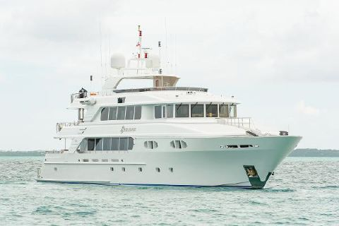 2010 Richmond Yachts Tri-Deck Motor Yacht AT ANCHOR STARBOARD