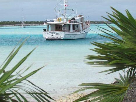 1985 Kadey Krogen 42 Dovekie At Anchor In The Islands