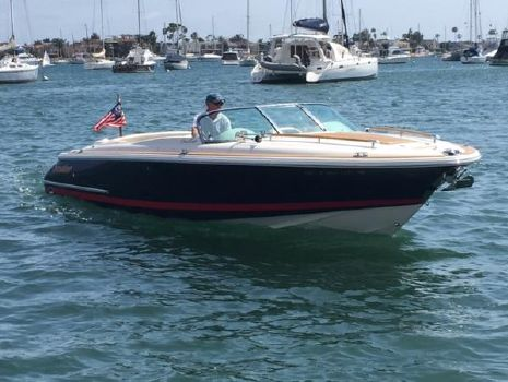 2006 Chris-Craft Corsair 25 Port Bow on the water