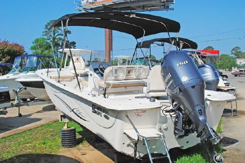 2016 Carolina Skiff 218 DLV Center Console CAROLINA_SKIFF_218_DLV_CENTER_CONSOLE_TRANSOM_VIEW